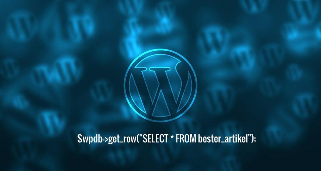 wordpress wpdb SELECT