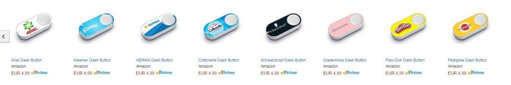 So sehen die ersten Bestellknöpfe von Amazon aus.