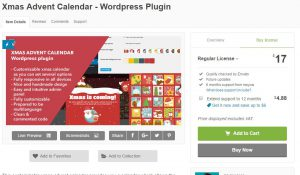 Werbung: Adventskalender Plugin für WordPress