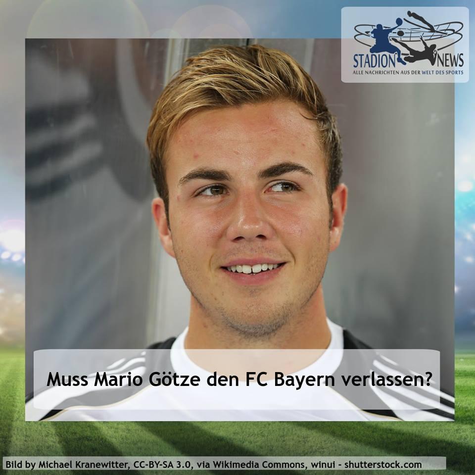 Der Fußballer Mario Götze mit der Frage ob er den FC Bayern verlassen wird.