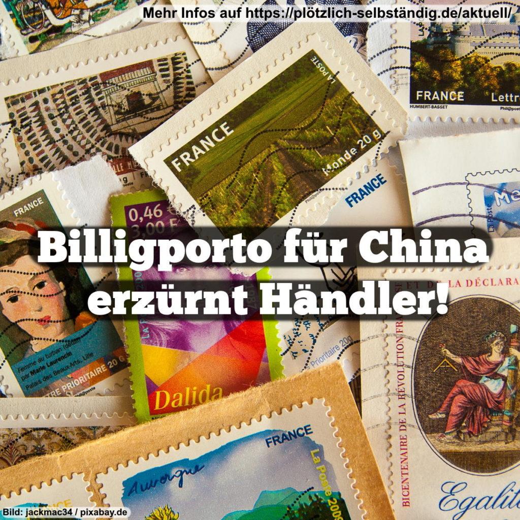 Billigporto für China erzürnt Händler