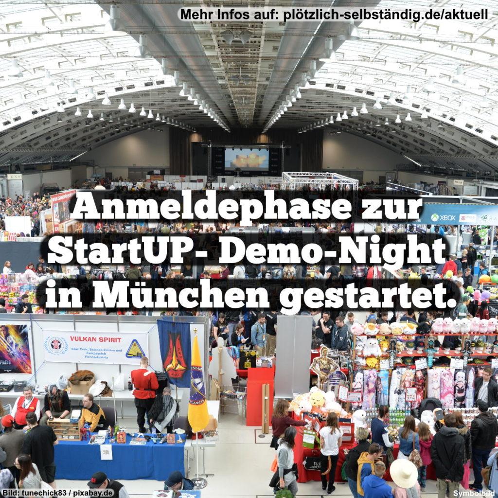 Anmeldephase zur StartUP- Demo-Night in München gestartet