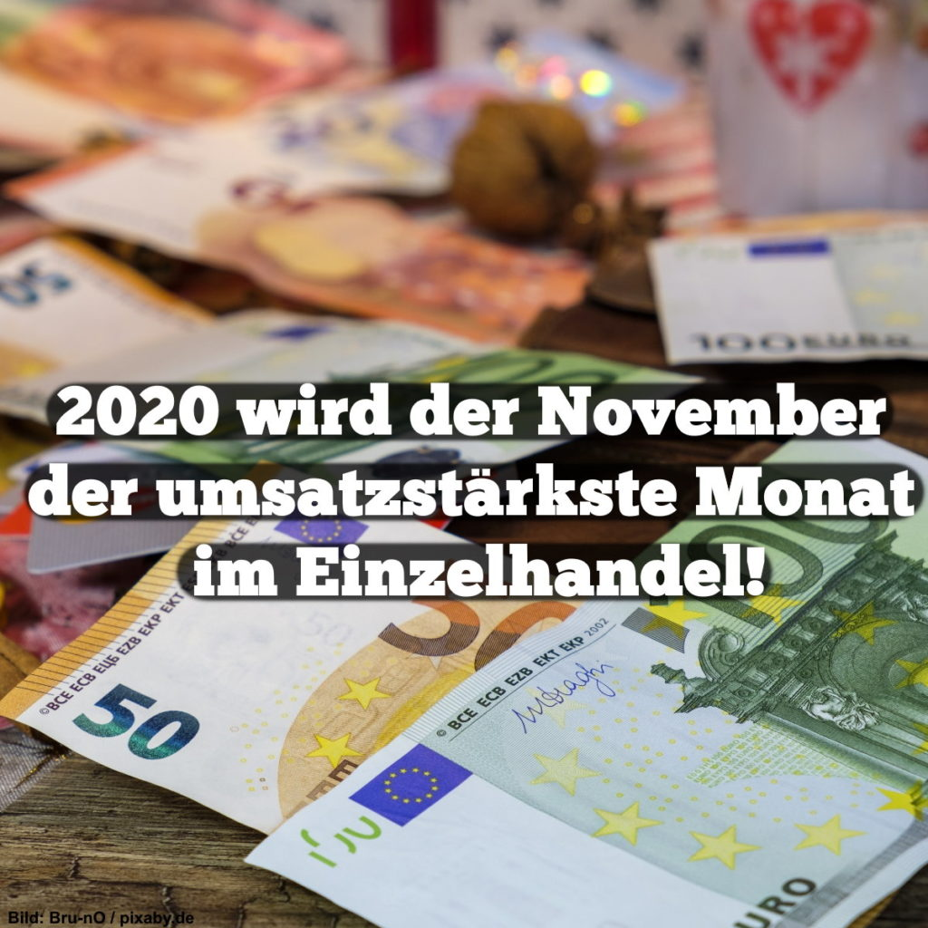2020 wird der November der umsatzstärkste Monat im Einzelhandel - Meme