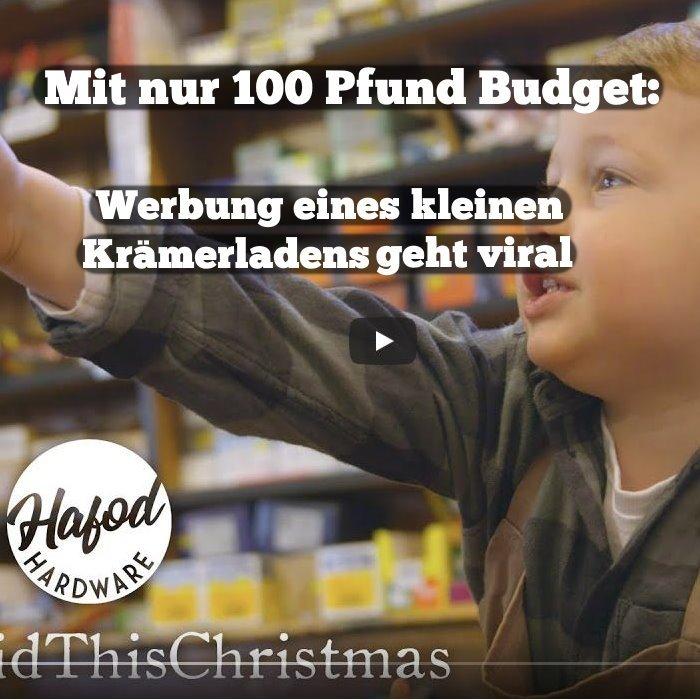 Werbung eines kleinen Krämerladens geht viral
