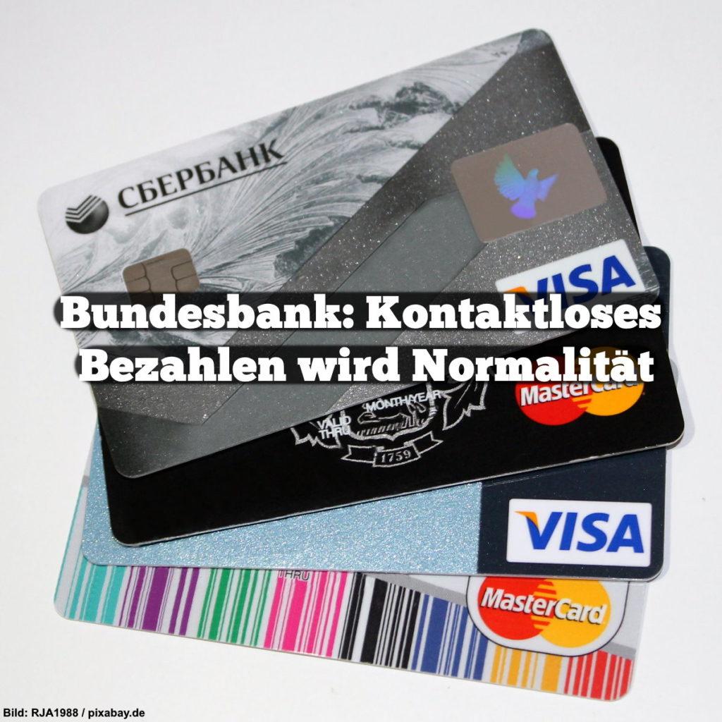 Bundesbank: Kontaktloses Bezahlen wird Normalität