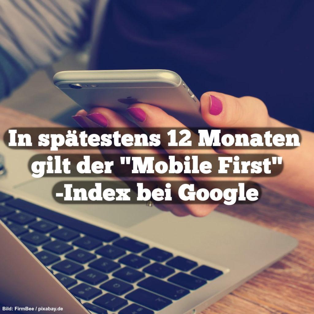 """In spätestens 12 Monaten gilt der """"Mobile First""""-Index bei Google"""