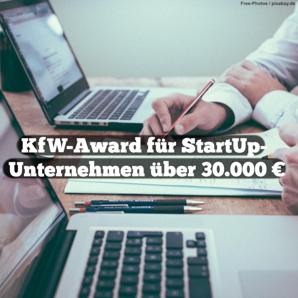 Meme: KfW-Award für Startup-Unternehmen über 30.000 €